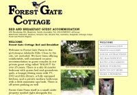 Forest Gate Cottages Romantic Retreat Bed and Breakfast Accommodation for Couples at Meadows