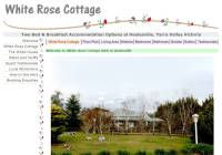 White Rose Cottage Bed and Breakfast Accommodation near Healesville in the Yarra Valley